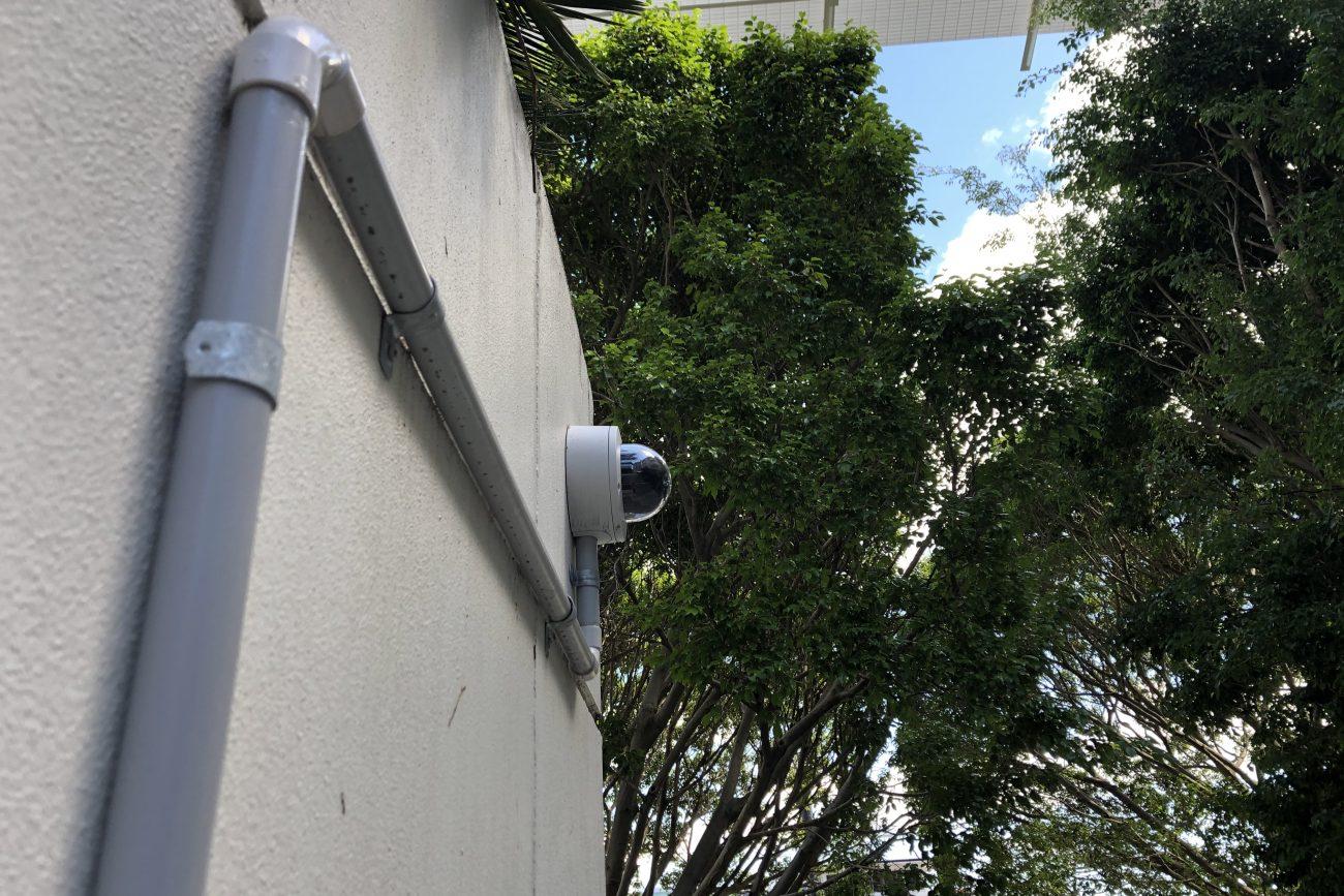 Avigilon Camera CCTV with conduit