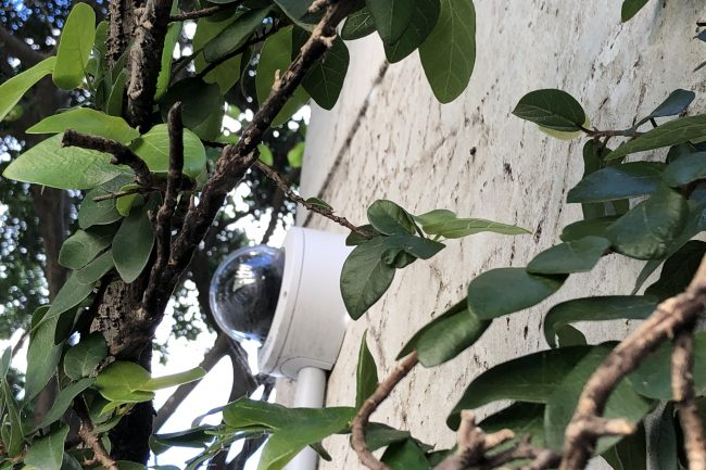 Micron Group avigilon camera outdoor on wall