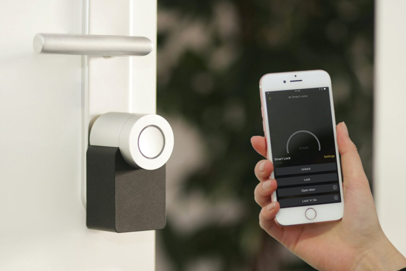 microngroup using a mobile access control app to control a locked door