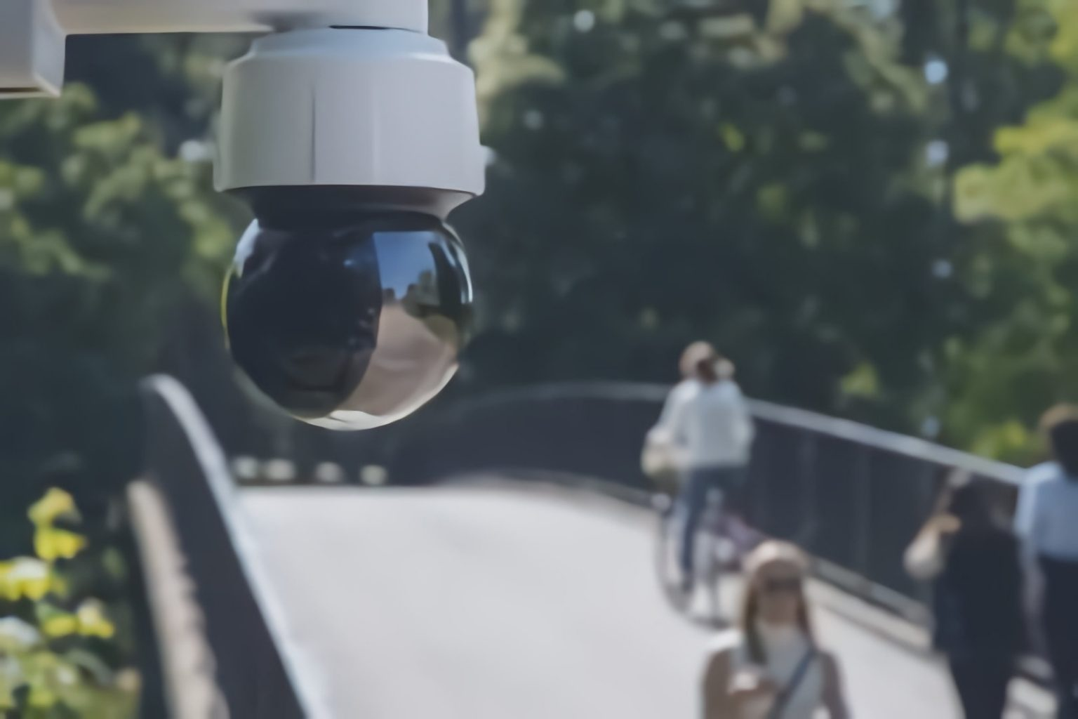 microngroup axis network camera installed in a park