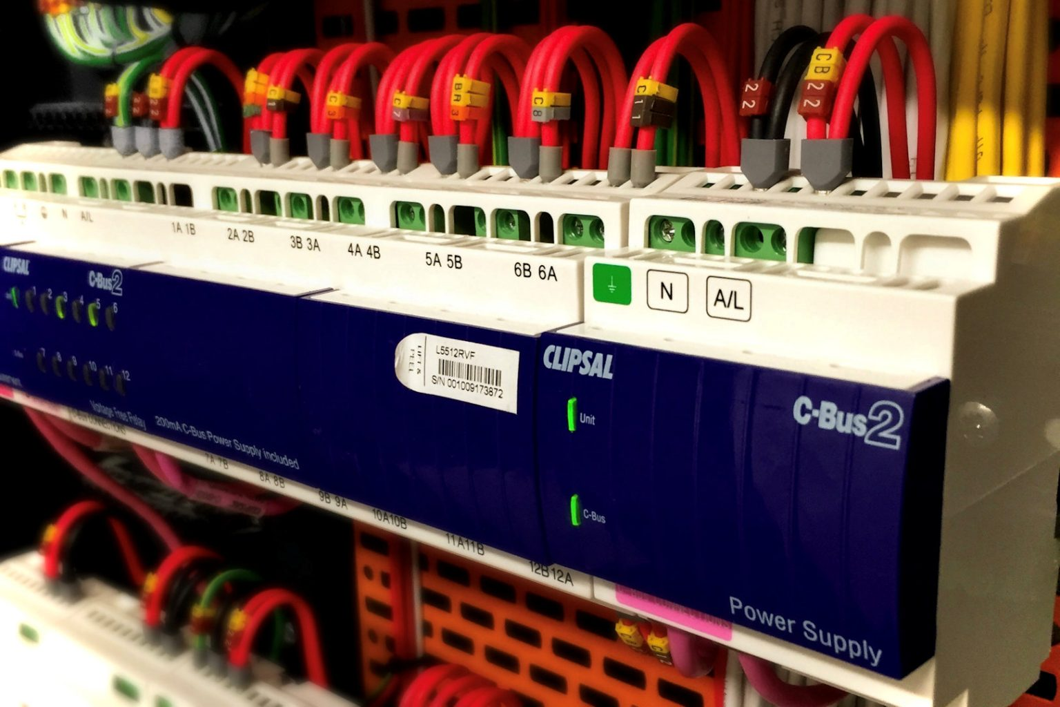 clipsal cbus 12 way relay installed in switchboard by microngroup