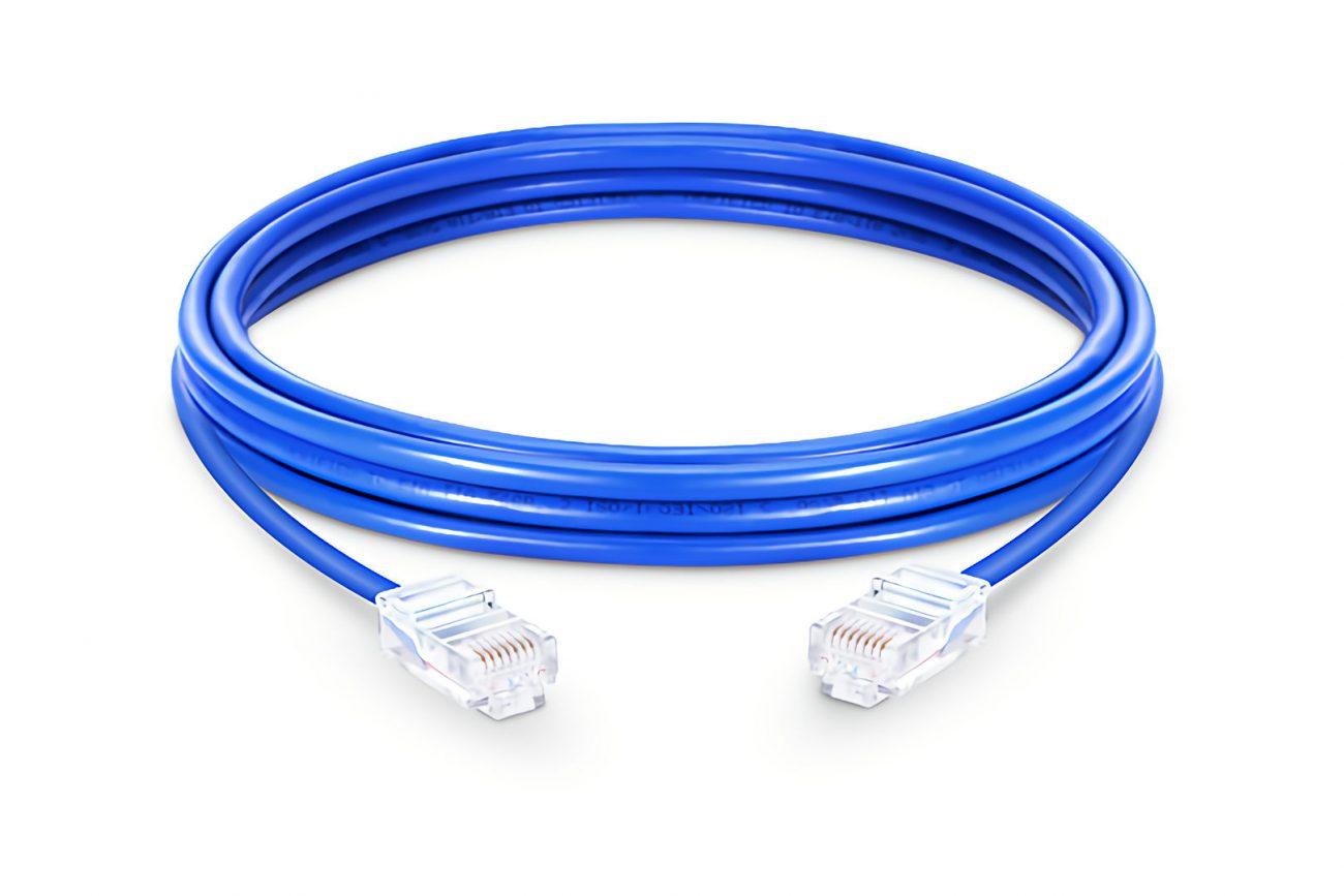 blue cat 6 patch lead