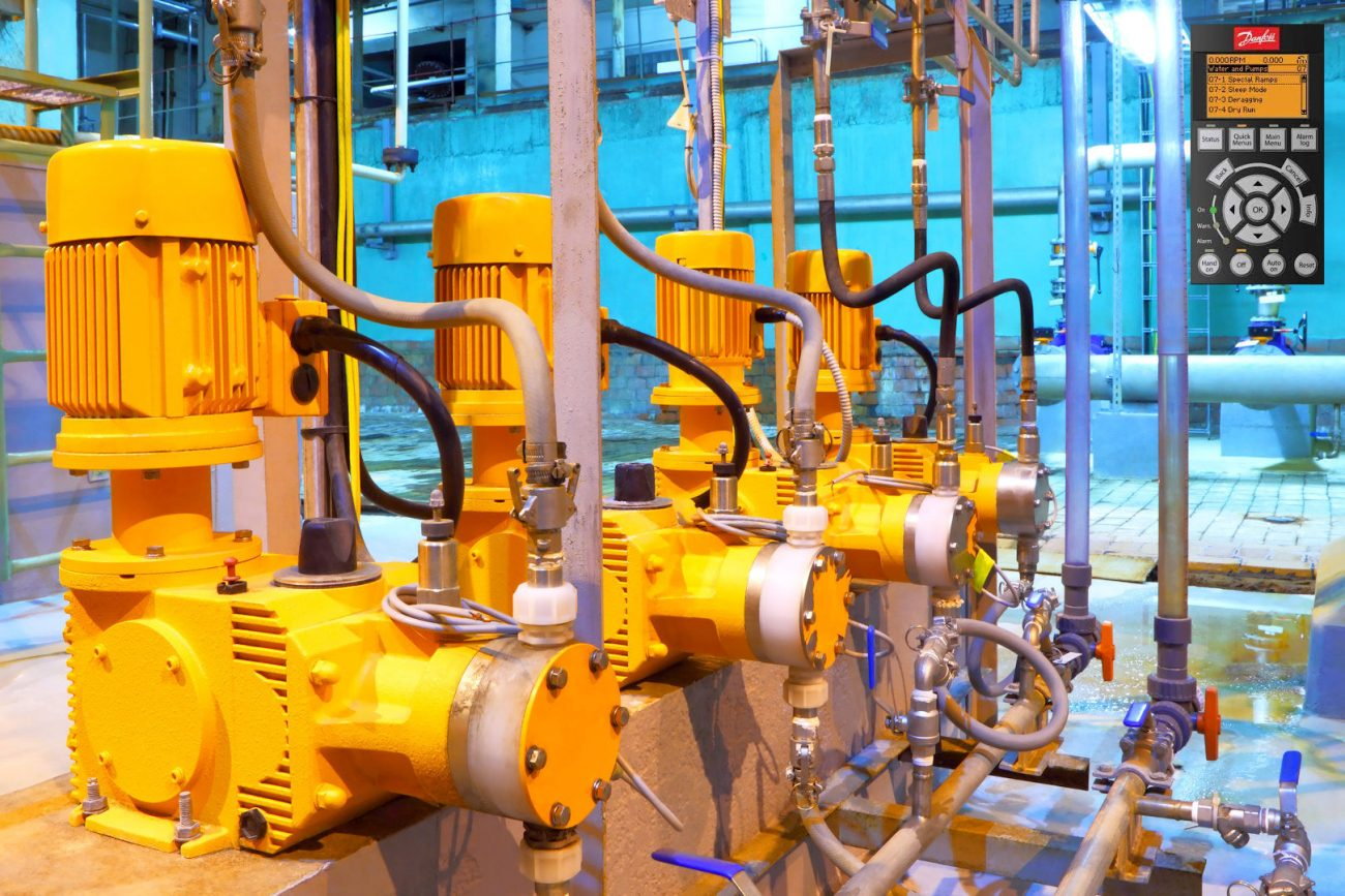 microngroup water pumps in plant room variable frequency drive control
