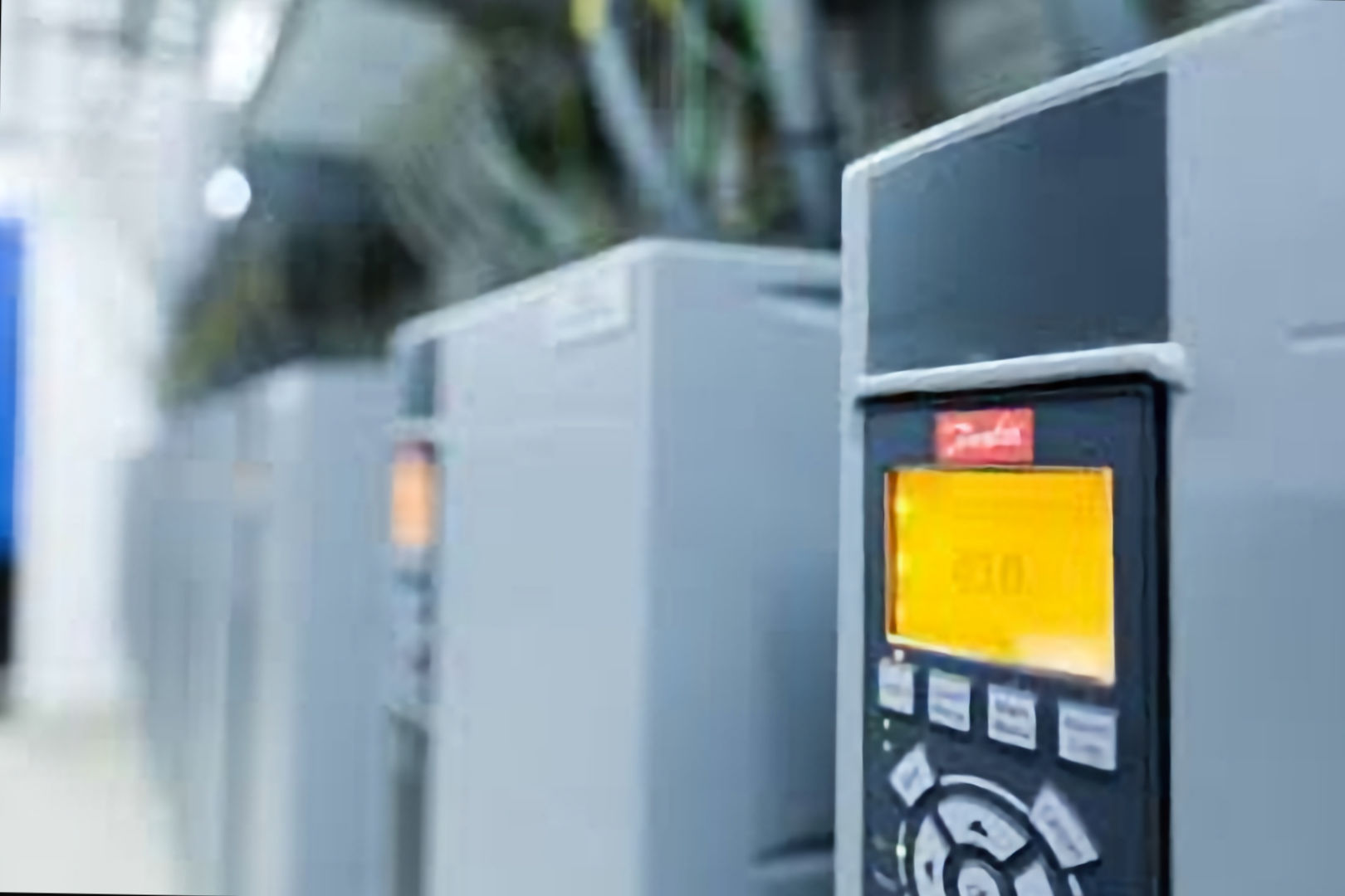 danfoss variable speed drives installed in plant room
