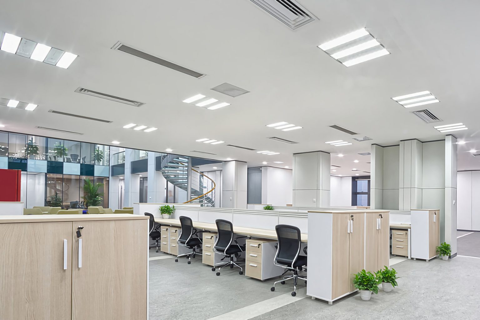 office lighting replacement commercial office