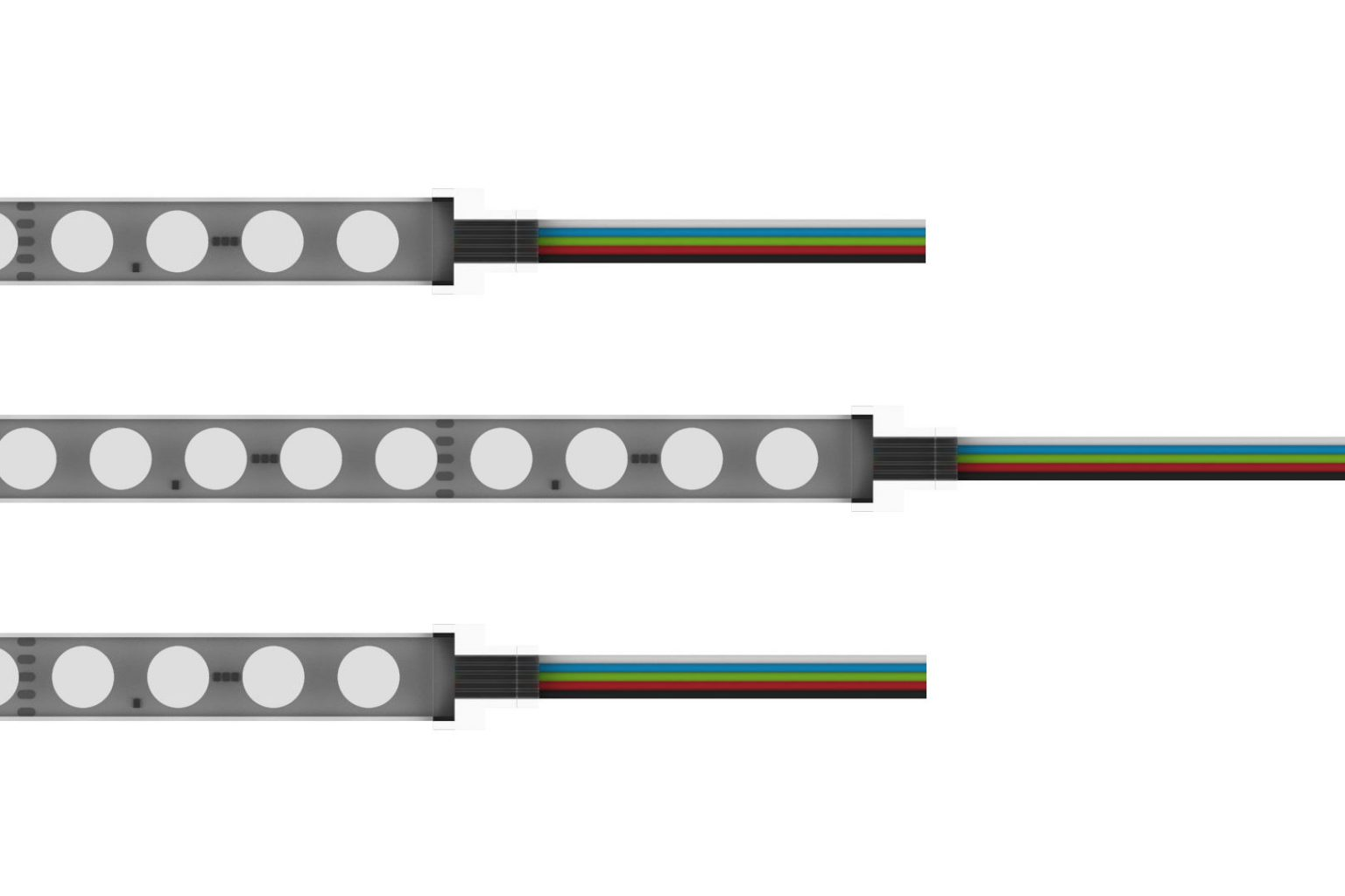 RGB led strip with leads
