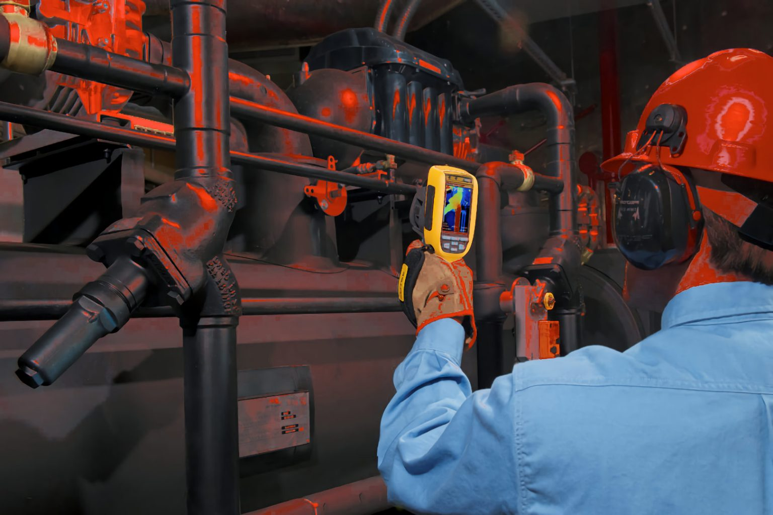 technician thermal scanning HVAC industrial electric motors